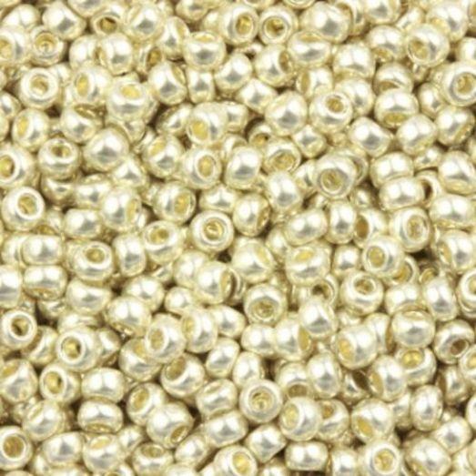 18503 Бисер Preciosa сольгель серебряный металлик