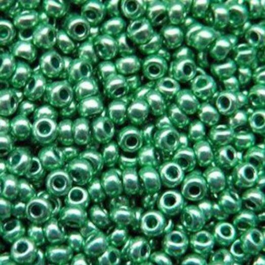18558 Бисер Preciosa зелёный металлик терра