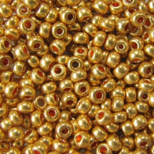 18581 Бисер Preciosa сольгель бронзовый металлик
