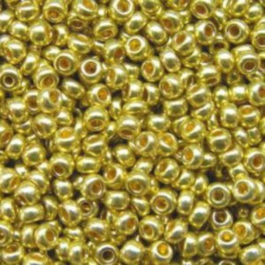 18586 Бисер Preciosa сольгель горчичный металлик непрозрачный