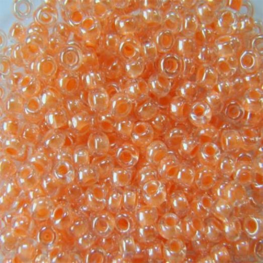 38188 Бисер Preciosa стеклянный с персиковым прокрасом глазурь