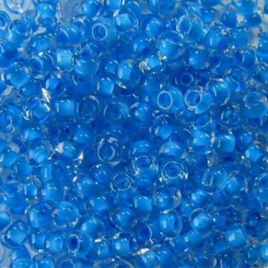 38336 Бисер Preciosa стеклянный с голубым прокрасом классика