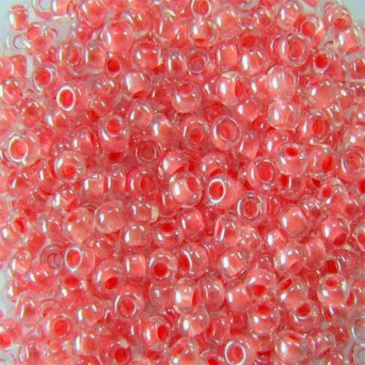 38697 Бисер Preciosa стеклянный с розовым прокрасом глазурь терра