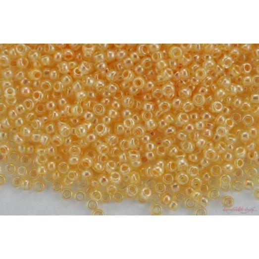 48013 Бисер Preciosa кристальный люстеред с жёлтым прокрасом
