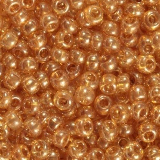 48018 Бисер Preciosa кристальный люстеред со светло-коричневым прокрасом
