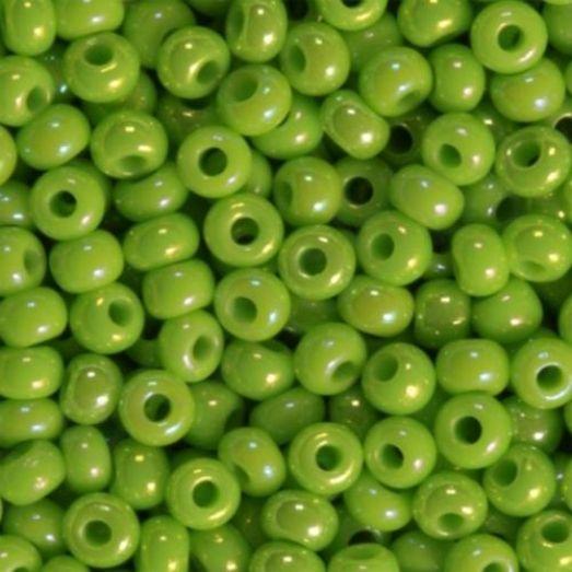 54310 Бисер Preciosa керамика радужный зелёный лайм