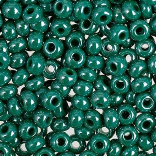 58240 Бисер Preciosa керамика жемчужный голубая ель