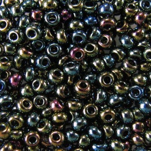 59155 Бисер Preciosa металлик ирис зелёный жемчужный