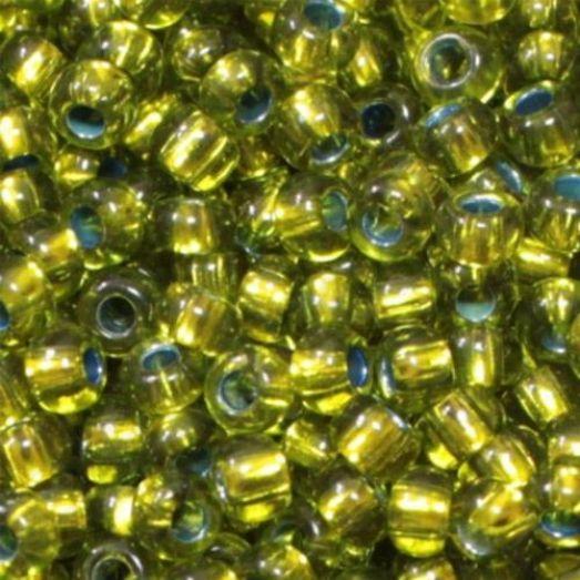 59430 Бисер Preciosa стеклянный зелёно-оливковый с бронзовым прокрасом