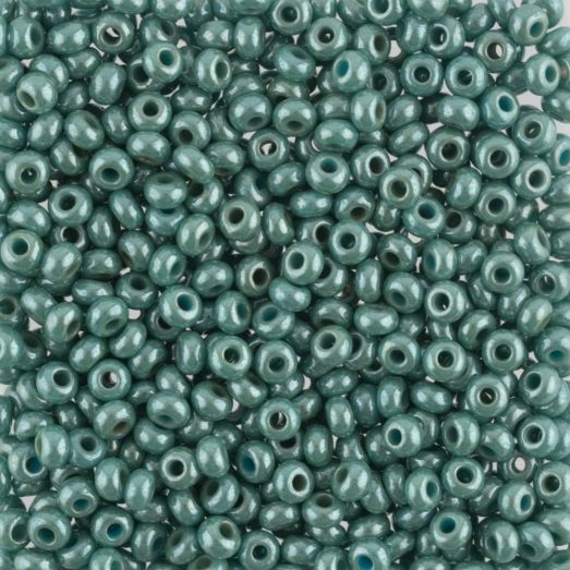 63021 Бисер Preciosa люстеред жемчужный серо-зелёный