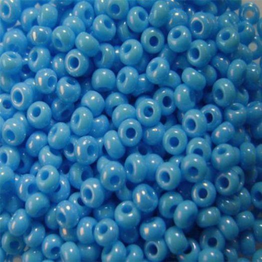 64020 Бисер Preciosa керамика радужный светло-голубой