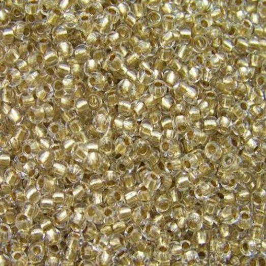 68106 Бисер Preciosa стеклянный золотой с серебрянным прокрасом