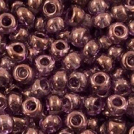 48025 Бисер Preciosa кристальный люстеред с тёмно-вишнёвым прокрасом