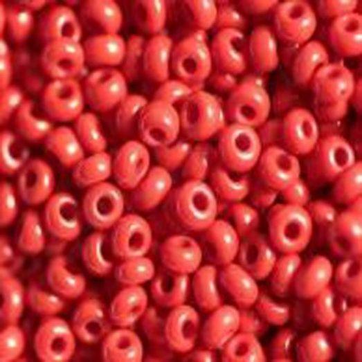 93190м Бисер Preciosa керамика красный матовый