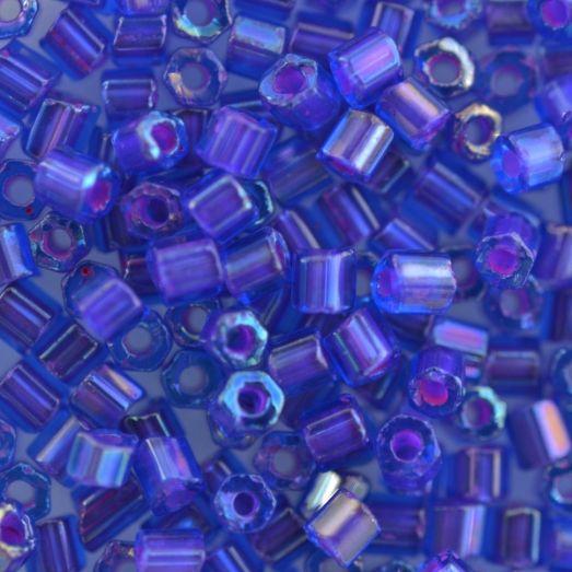 61016 Рубка Preciosa стеклянная хамелеон аквамарин с розовым прокрасом