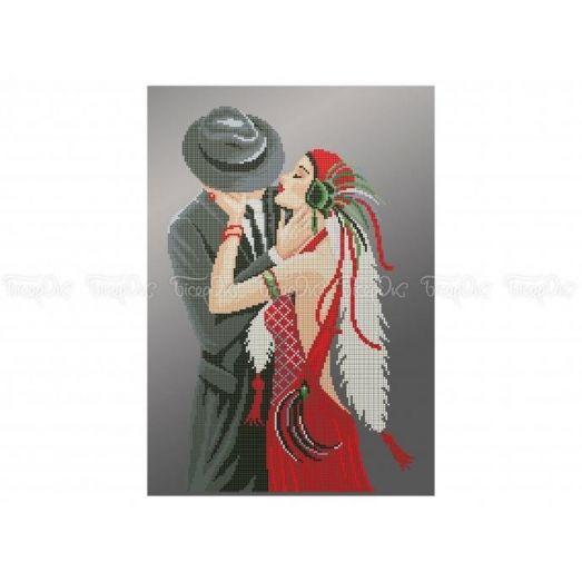 40-310 (30*40) Поцелуй. Схема для вышивки бисером Бисерок