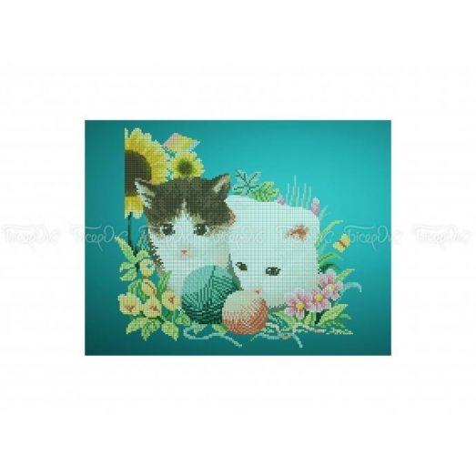 50-314 (30*40) Котята. Схема для вышивки бисером Бисерок