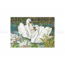 70-301 (30*40) Семья лебедей. Схема для вышивки бисером Бисерок
