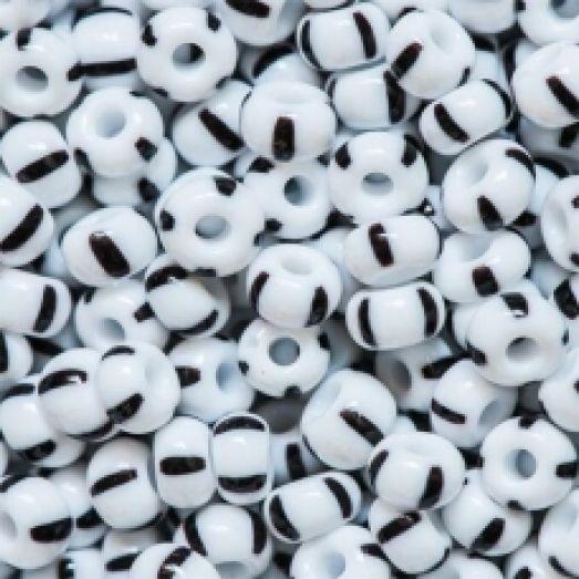 03590 Бисер Preciosa Бело-черный