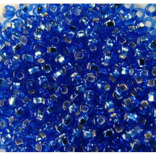 37050 / №330 Синий, серебряная серединка