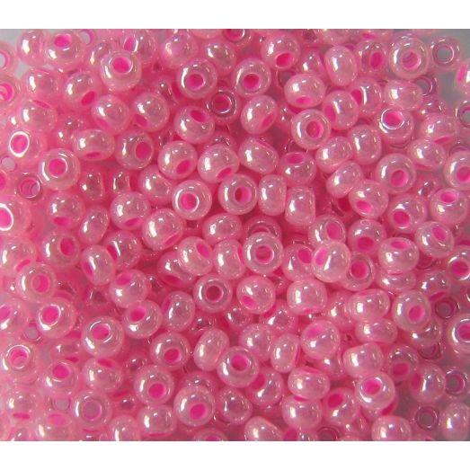 37177 Бисер непрозрачный розовый перламутровый