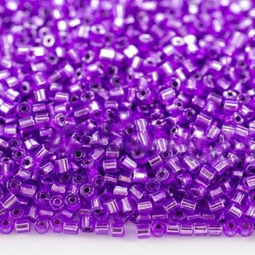 18228 Рубка Preciosa хрусталь фиолетово-сиреневая, с серебряной серединкой