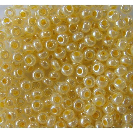 37386 Бисер жёлтый, жемчужный алебастр