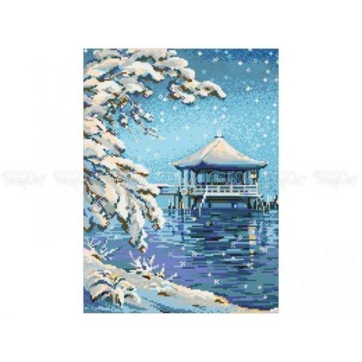 10-317 (30*40) Зимний пейзаж. Схема для вышивки бисером Бисерок