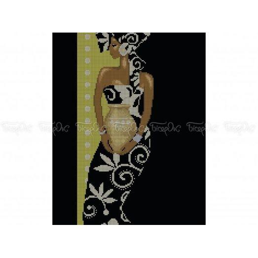 40-332 (30*40) Африканка. Схема для вышивки бисером Бисерок