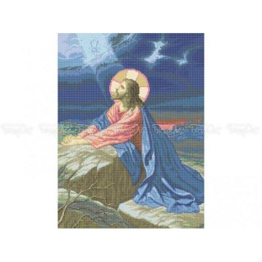 20-201 (40*60) Иисус Христос. Схема для вышивки бисером Бисерок