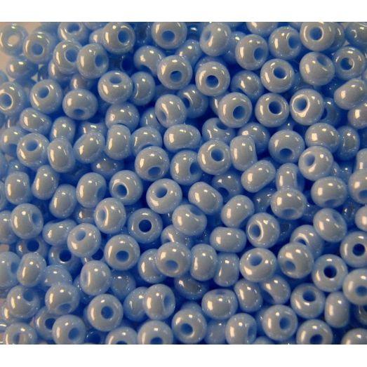38000 Бисер непрозрачный, светлый синий, перламутровй