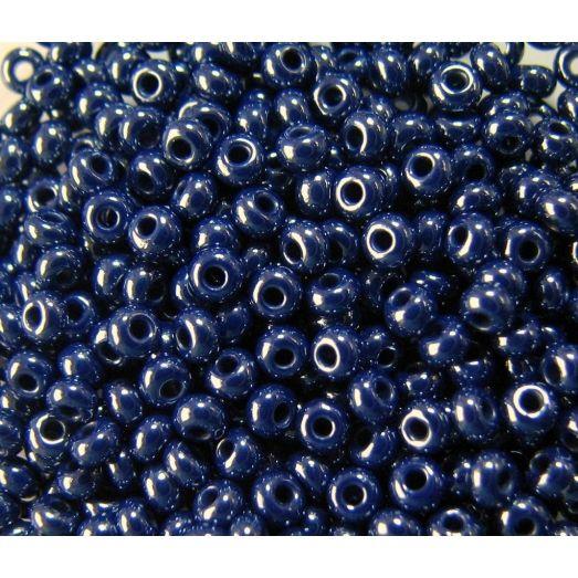 38070 Бисер непрозрачный, тёмный синий, перламутровый
