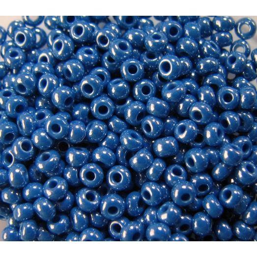 38210 Бисер непрозрачный, синий, перламутровый