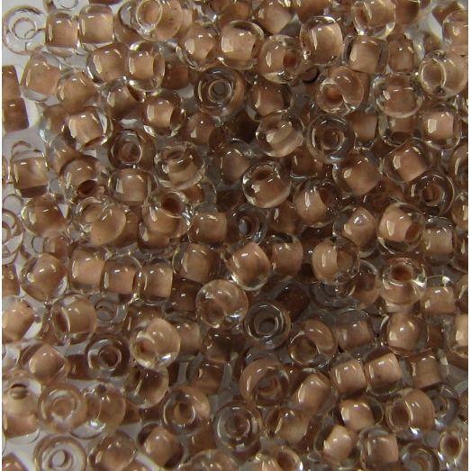 38317 Бисер светло-коричневый с цветной серединкой