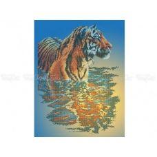 50-204 (40*60) Тигр в воде. Схема для вышивки бисером Бисерок