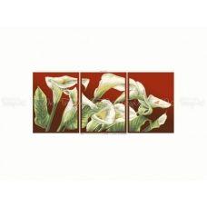 ЧМ-А2-033 Триптих Каллы. Схема для вышивки бисером Бисерок