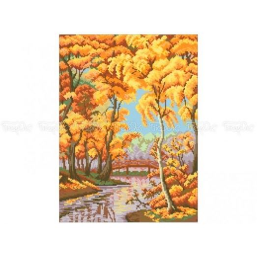10-311 (30*40) Осенний парк. Схема для вышивки бисером Бисерок