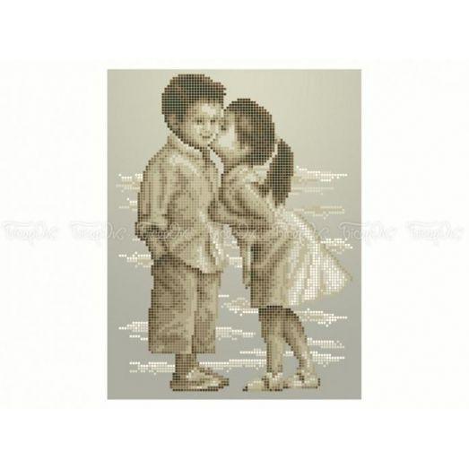 40-403 (20*25) Первый поцелуй. Схема для вышивки бисером Бисерок
