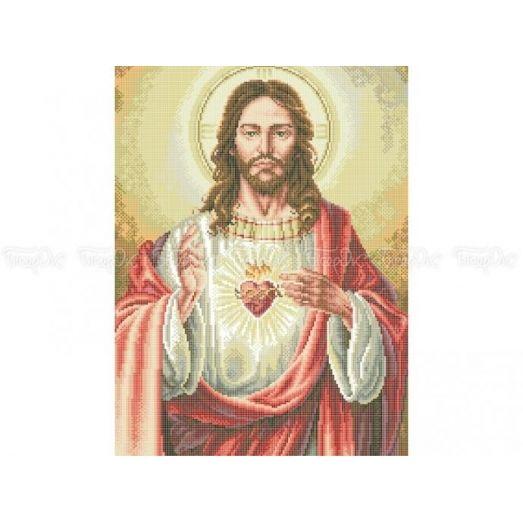 20-206 (40*60) Сердце Иисуса. Схема для вышивки бисером Бисерок