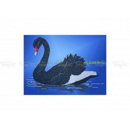 70-302 (30*40) Черный лебедь. Схема для вышивки бисером Бисерок