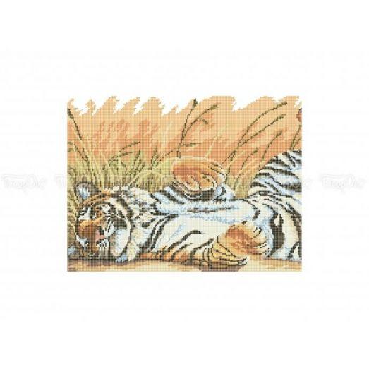 50-309 (30*40) Тигр. Схема для вышивки бисером Бисерок