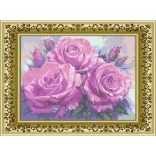 ЛВБ-001 Розовая симфония. Схема для вышивки бисером. Княгиня Ольга