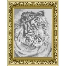 ЛВТ-007 Белый тигр. Схема для вышивки бисером. Княгиня Ольга