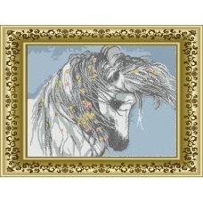 ЛВТ-008 Белый конь. Схема для вышивки бисером. Княгиня Ольга