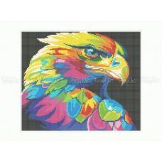50-347 (30*40) Радужный орел. Схема для вышивки бисером Бисерок
