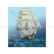 60-201 (40*60) Белые паруса. Схема для вышивки бисером Бисерок