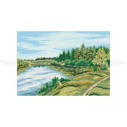 10-345 (30*40) Озеро. Схема для вышивки бисером Бисерок