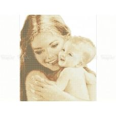 40-220 (40*60) Мама с малышом. Схема для вышивки бисером. Бисерок