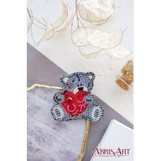 AD-056 Набор для вышивки бисером украшения Влюбленный мишка. ТМ Абрис Арт