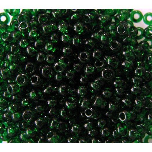 50060 Бисер прозрачный, темно-зеленый